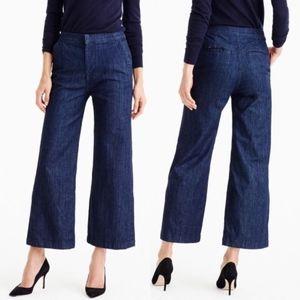 J. Crew Rayner Jeans Dark Wash Wide Leg